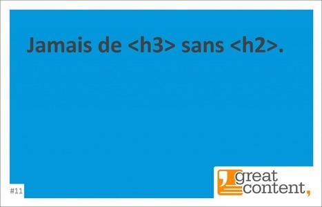 Jamais de [h3] sans [h2] - Blog de greatcontent.fr | Rédaction web | Scoop.it
