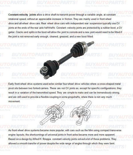What does a CV axle do | Mercedes Benz 450SEL Parts | Scoop.it