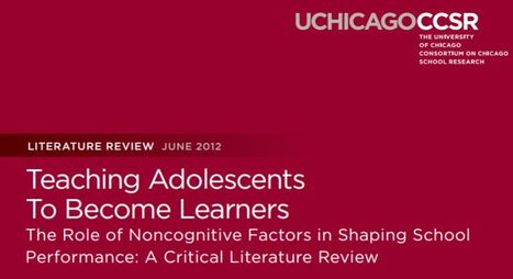 Teaching Adolescents<br/>To Become Learners:: The Role of Noncognitive Factors in Shaping School<br/>Performance: A Critical Literature Review | :: The 4th Era :: | Scoop.it