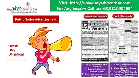 Public Notice Newspaper Ad Samples | Newspaper Ad Agency | Scoop.it