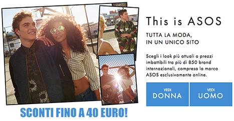Nuovi coupon fino a -40€su Asos | Offerte partner CodiceRisparmio.it | Scoop.it