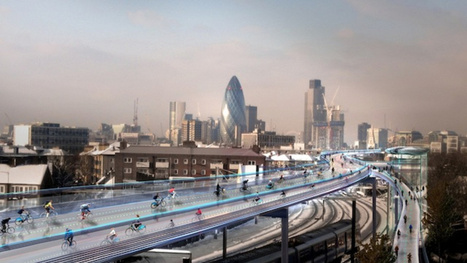 The proposal to put a bikes-only highway high over London | Strange days indeed... | Scoop.it