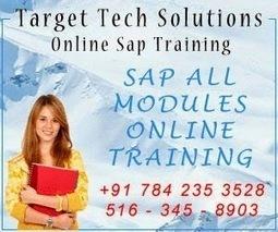 Target Tech Solutions | Online SAP Training in All Modules | SAP Online Training in Hyderabad ! Bangalore ! India ! SAP HANA ! SAP Webdynpro ! SAP ABAP ! SAP CRM ! SAP Workflow ! SAP BI ! SAP BO SA... | sap online training in hyderabad, | Scoop.it