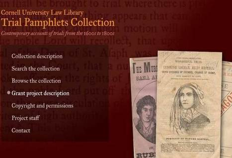 Cornell Law Library digitizes Trial Pamphlets Collection » InfoBrief | marketing electronic resources | Scoop.it
