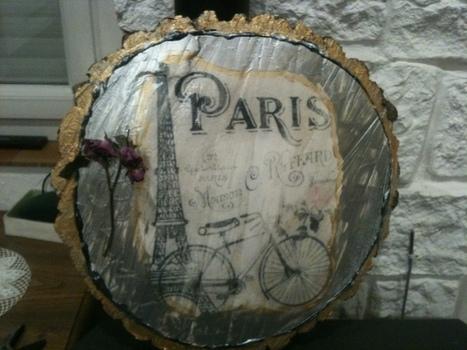 [Coup de ♥] Transfert d'une photo sur un rondin en bois par Evelyne sur le #CDB | Best of coin des bricoleurs | Scoop.it