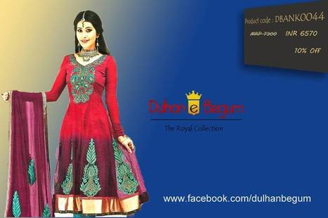 Anarkali with Beautiful Embroidered Neckline and Border | dulhanebegum | Scoop.it