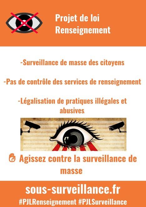 Appel à MANIFESTATION : non à la surveillance généralisée ! | La Quadrature du Net | Machines Pensantes | Scoop.it