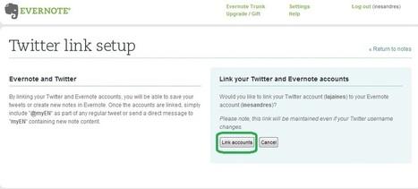 En la nube TIC: Envía tuits directamente a Evernote | Apps interesantes | Scoop.it
