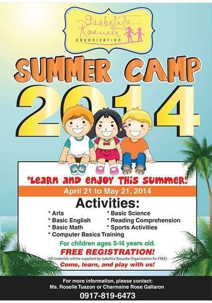 IROG Foundation Summer Camp 2014 | IROG( Isabelita Rosueta Organization) | Scoop.it
