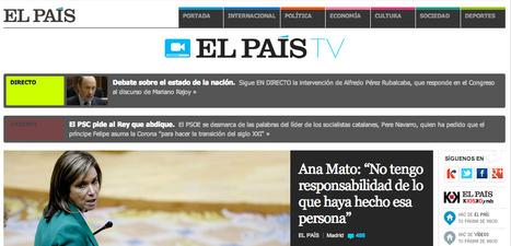 Nace 'El País TV' para potenciar los contenidos audiovisuales del diario | Innovación y nuevas tendencias de los medios y del periodismo | Scoop.it