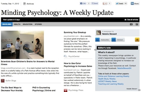 Sept 11 - Minding Psychology: A Weekly Update | Senior Project6 | Scoop.it