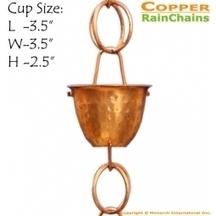 Copper Hammer Cup Rain Chain 8.5 ft | Copper Rain Chains | Scoop.it