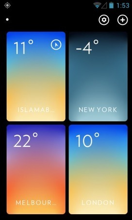 Popular Minimal Weather App Solar Now Available For Android | Best Android Apps | Scoop.it