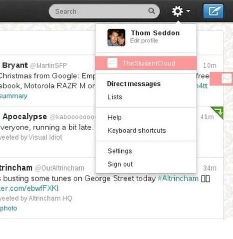 ¿Cómo cambiar fácilmente entre diferentes cuentas en Twitter? - Tecnología Fácil | LAS TIC EN EL COLEGIO | Scoop.it