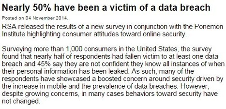 Nearly 50% have been a victim of a data breach | Cyber Security | eSkills | familyonline | Scoop.it