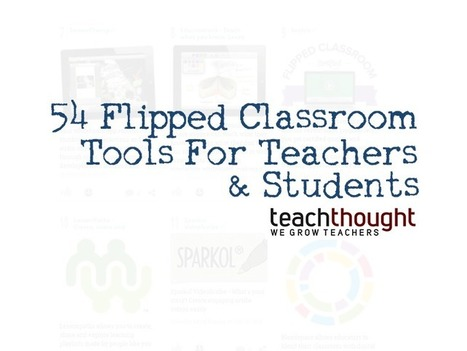 54 Flipped Classroom Tools For Teachers And Students - TeachThought | Content Curation Resources | Scoop.it