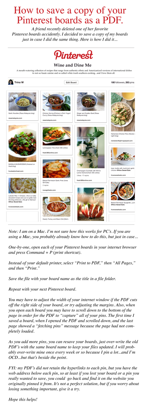 How to save a copy of your Pinterest boards as a PDF. | Time to Learn | Scoop.it