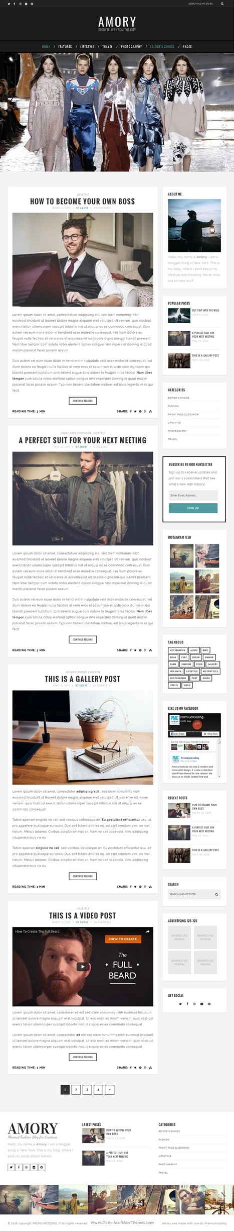 Amory - Premium WordPress Blog Theme for Creatives Download | Creative Themes and Template Download | Scoop.it