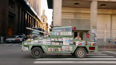 Weapon Of Mass Instruction: Artist Creates A Tank That Delivers Free Books | Information Science | Scoop.it