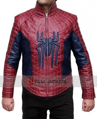 The Amazing Spiderman 2 Jacket in Red and Blue Leather | House of outfits | Scoop.it