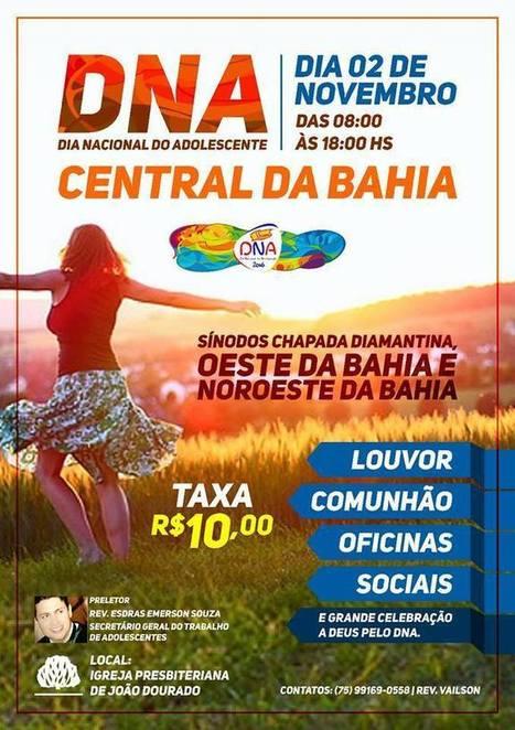 Eventos: DNA- DIA NACIONAL DO ADOLESCENTE. 02/NOV 2016 (CENTRAL DA BAHIA).   #COMAPARTILHELSP | Lucas Souza Publicidade | Scoop.it
