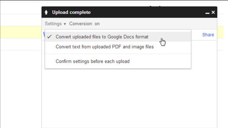 Convert Files to Google Docs Format to Save Space on Google Drive | Tools You Can Use | Scoop.it