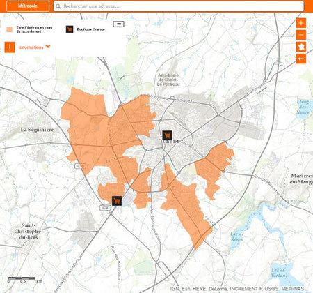 Carte fibre optique Cholet (49): de premiers quartiers couverts | Territoires innovants | Scoop.it
