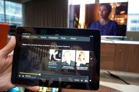 Amazon debuts 'second screen' TV experience for Kindle HDX, but Bezos mum on further living room plans - GeekWire | screen seriality | Scoop.it