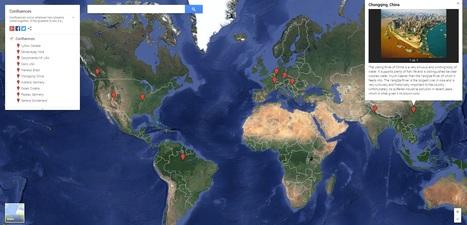 Mapa de confluencias curiosas entre ríos | Ingeniería del Agua | Scoop.it