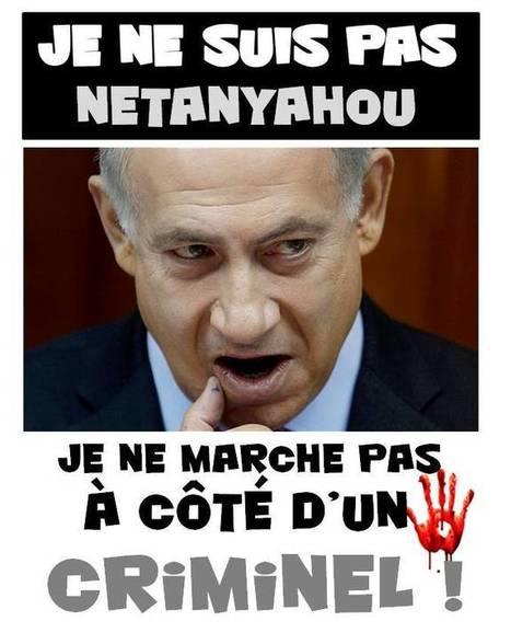 "#JeNeSuisPasNetanyahou ""Je ne marche pas avec un criminel"" #CharlieHebdo | Informations | Scoop.it"