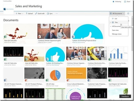 [ #Office365 #SharePoint ] The new landscape for end-users, part 1: Groups and Modern Document Library   Sharepoint 2013 FR - OFFICE 365 - YAMMER   Scoop.it