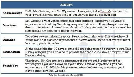 Teachers use AIDET® to Communicate with Parents before First Day of School | Parent Engagement | Scoop.it