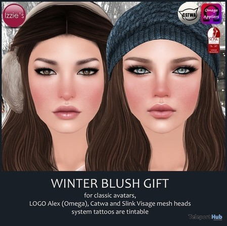 Winter Blush With Mesh Head Appliers Gift by Izzie's | Teleport Hub - Second Life Freebies | Second Life Freebies | Scoop.it