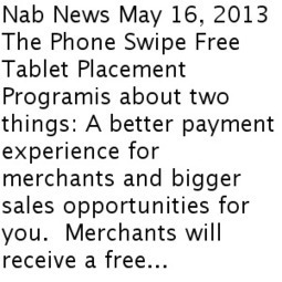 Introducing the Industry's First and Only Free Tablet Placement Program!   Equipment   Scoop.it