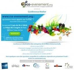 Conférence éco-événement : 5 juin 2013 - Blog Traiteurs de Franc... | Traiteurs de France | Scoop.it