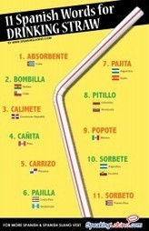 Infographic: 11 Spanish Language Words for DRINKING STRAW | Tradução | Scoop.it