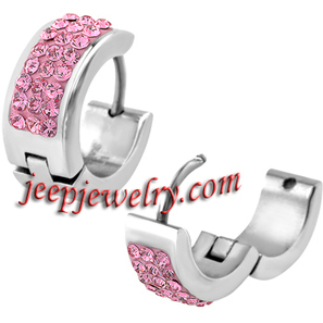 Wholesale Jewelry Women's 316L Stainless Steel 14mm Triple Row Pink CZ Huggy Earrings - $ 2.30 : Steel Jewelry | How to choose an ideal jewelry for your lover | Scoop.it