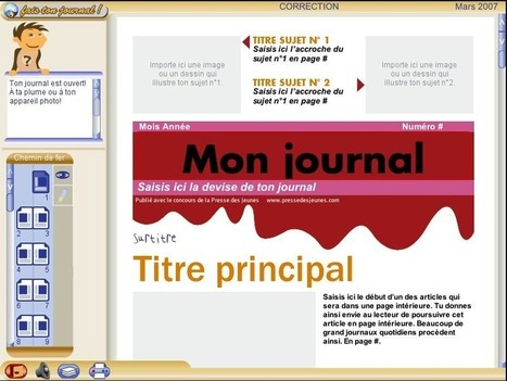 Fais ton journal ! | Tice et C2i2eM2 | Scoop.it