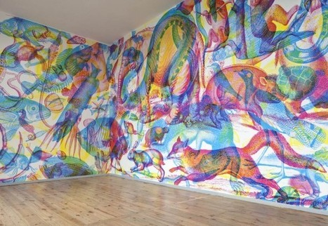 Une fresque RVB par l'artiste Carnovsky   [Art] - artist's point of view, creative process &  interesting pieces   Scoop.it