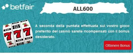 Codice bonus Betfair Casino - €600 su tutti i giochi! | Online Slots | Scoop.it