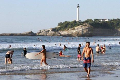 En images : fraîcheur recherchée sur les plages du Pays basque | BABinfo Pays Basque | Scoop.it