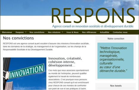 RESPONS conseil lance son site internet // www.respons.fr | Social Mercor | Scoop.it