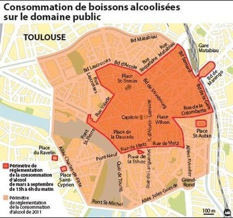 Un nouvel arrêté anti-alcool cible les sites les plus exposés en ville | Toulouse La Ville Rose | Scoop.it