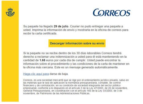 """Nueva Alerta FRAUDE CRYPTOLOCKER con email de título """"Correos paquete   Informática Forense   Scoop.it"""