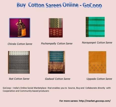 Shop Online: Buy Chirala Cotton Sarees Online India | Handlooms India | Scoop.it