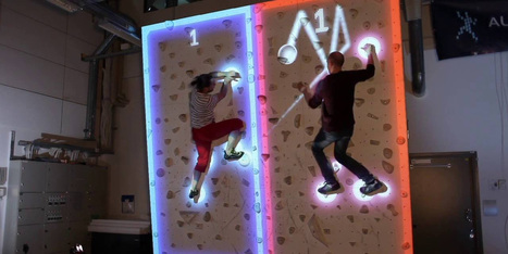 This AR Pong game lets you be the paddle - on a climbing wall | AR - QR | Scoop.it