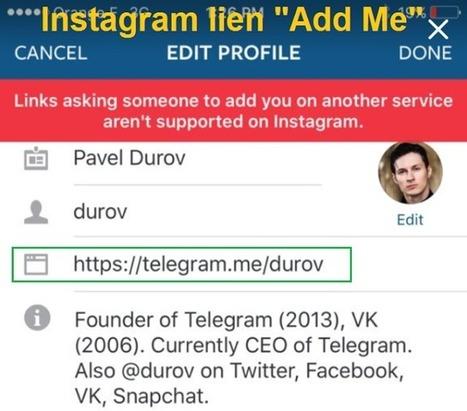 Instagram bloque les liens pointant vers d'autres réseaux sociaux - Arobasenet.com | TIC et TICE mais... en français | Scoop.it