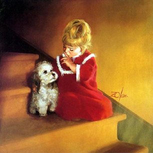 Christmas Secret Oil Painting by Donald Zolan | Oil paintings Gallery | Scoop.it