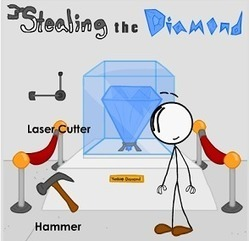 Stickman Game of Stealing the Diamond: The New Record is 1'01'' for Undetected Way | Games | Scoop.it