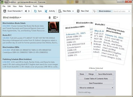 Adding Evernote notes to a Scrivener project | Evernote, gestion de l'information numérique | Scoop.it